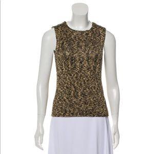Celine silk knit sleeveless top